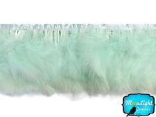 1 Yard - Aqua Blue Marabou Turkey Fluff Feather Fringe Trim