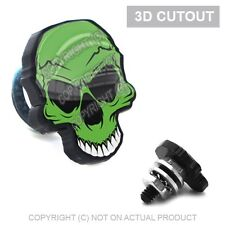 2 Black 3D Skull License Plate Frame Fastener Tag Bolts for Motorcycle GREEN