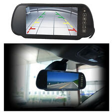 "7"" LCD Car Rear View Mirror Monitor For Wireless or Wired Backup Reverse Camera"