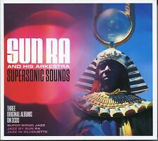SUN RA AND HIS ARKESTRA SUPERSONIC SOUNDS - 3 CD BOX SET - JAZZ