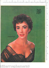 5988 Elizabeth Taylor 1950 s Columbia Pictures movie theater advertising poster