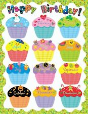 HAPPY BIRTHDAY Chart Poster Teacher Kindergarten Preschool Classroom Supplies