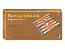 "BACKGAMMON 10"" MAGNETIC GAME BOARD TRAVEL PUZZLE NOVELTY TOY KIDS BRAIN HOBBY"