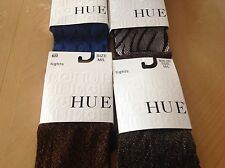 NWT (4) HUE Women's Tights Metallic,Shimmer,Tiger, Sheer Dot Size M/L