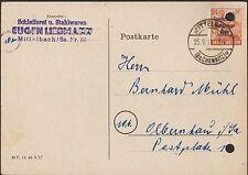 MITTELBACH, Postkarte 1948, Eugen Liebmann Schleiferei Stahlwaren