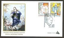 Vatican City Sc# 1608-9, Start of the Holy Year of Mercy, First Day Cover