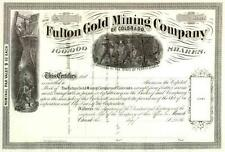 18__ Fulton Gold Mining Stock Certificate