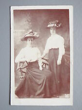 R&L Postcard: Studio Portrait of Edwardian Ladies, Hats Fashion Clothing