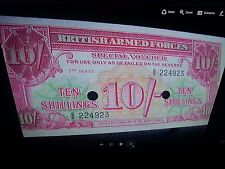 Collection British Military Currency 1,5 & 10 Shillings & 5000 Peso Note Uruguay