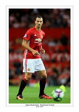 ZLATAN IBRAHIMOVIC MANCHESTER UNITED PRINT PHOTO MAN UTD A4 GIFT FOR HIM 2