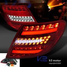 Euro Red 08-11 Benz C300 C350 AMG W204 LED Light Bar Tail Brake Lamps