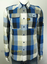 CHEMISE HOMME G-STAR ANDERSON SHIRT L/S TAILLE M À CARREAUX NEUF