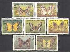 Uzbekistan 1995 Butterflies/Insects/Nature/Wildlife/Conservation 7v set (b5584)