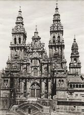 1922 Vintage SPAIN Santiago Compostela Church Cathedral Architecture ~ HIELSCHER