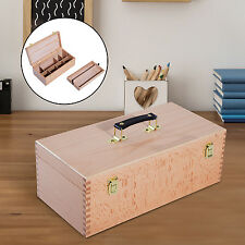 HOMCOM Portable Easel Beech Wooden Painting Box Case Artist Folding Drawing