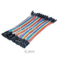 40PCS Dupont Wire Female To Female F/F Jumper Wire Ribbon Cable 10CM for Arduino
