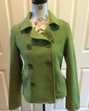 Abercrombie & Fitch Lime Green Wool Blend East Cost Vintage Jacket Size Medium