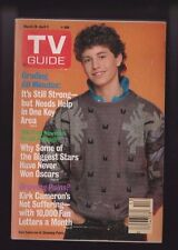 "Mar 28-Apr 3 1987 Kirk Cameron ""Growing Pains"" TV Guide W/Mailing Label Removed"