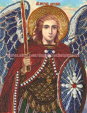 St. Michael the Archangel orthodox icon DIY bead embroidery kit beaded painting