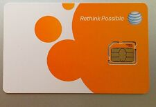 NEW AT&T MICRO SIM CARD FOR IPHONE 4 /4S. AT&T. 4G LTE SIM,. NEWEST VERSION