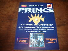 PRINCE - FLYER PROMO DIAMONS & PEARLS !!!!!!!!!