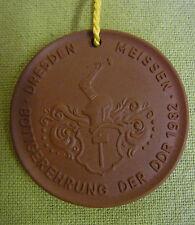 Meissen DDR Medaille - Dresden Meissen - Böttgerehrung der DDR 1982