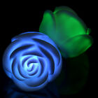 7 Color Romantic Changing LED Floating Rose Flower Candle Night Light Christmas