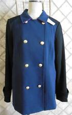 Banana Republic Women XL NWT $175 Pea Coat Jacket Classic Lined NEW Blue Cotton