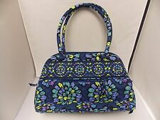 Vera Bradley Women's Soft Quilted Handbag/Purse Indigo Pop Retired 2012 NWOT