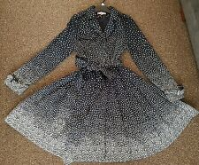 Ladies Darling Mac Style Double Breasted Coat Size L New polka dot Animal print