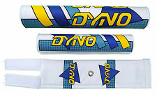 DYNO old school BMX padset pads - GRID - BLUE CYAN YELLOW BLACK *MADE IN USA*