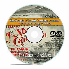 North Carolina NC Vol2 People Cities History Genealogy 68 Books DVD CD B46