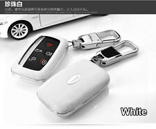 Remote Leather Case FOB Key Cover Fit For Land Rover LR4 Range Rover Evoque