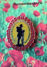 At The Going Down Of The Sun Poppy Remembrance Day Lapel Pin Badge 30mm *ANZAC
