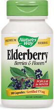 Black Elderberry (Elderberry Berries & Flowers) - 100 Capsules - Nature's Way