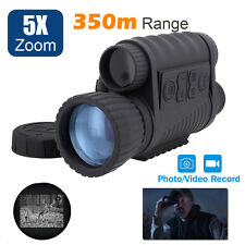 Handheld IR Infrared Digital Night Vision Monocular HD Video Camera Pics Photos