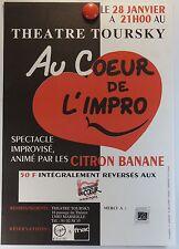 Au coeur de l'impro Théâtre Toursky à Marseille  AFFICHE ORIGINALE/13bPB