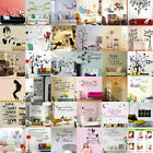 DIY Removable Art Vinyl Quote Poem Wall Sticker Decal Mural Home Room Decor