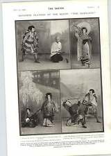 1905 Japanese Players Hara-kiri Constance Collier Nancy Oliver Twist