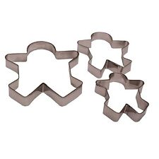 3 x GINGER BREAD MAN metallo forma Cookie CAKE BISCOTTI TORTE CUTTER