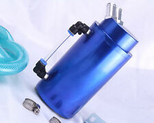 Oil Catch Can 15mm Fittings Universal Alloy Breather Tank Catcher Blue Camcover