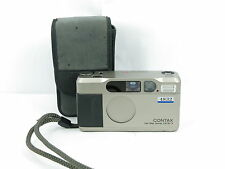 Contax T2 35mm Point and Shoot Film Camera W/DATABACK &CASE Free shipping JAPAN