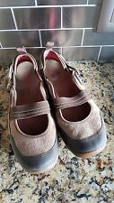 "MERRELL ""Kangaroo"" Brown Leather Mary Janes Trail/Hiking/Walking Women's SZ 8.5"