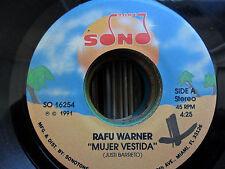 Latin Salsa SonoTone 45 Rafu Warner - Mujer Vestida / Solos En El Cuarto VG+