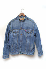 Levi's Men's Denim Bomber Jacket Medium Wash Motorcycle Biker Size XL Easy Rider
