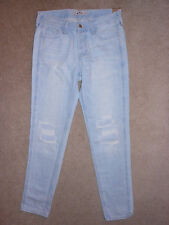 WOMENS SIZE 0 HOLLISTER BY ABERCROMBIE DESTROYED LOW RISE BOYFRIEND JEANS NWT