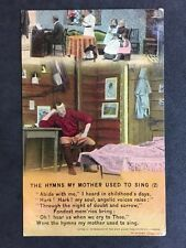 Vintage Postcard - Bamforth Song Card #27 - Hymns My Mother Used To Sing (2)
