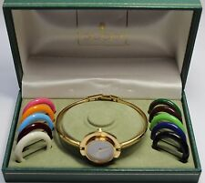 Women's Vintage Authentic GUCCI 11/12 Interchangeable Bezels Bangle / Watch