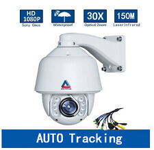 30X Zoom Auto Tracking PTZ IP Speed Dome Camera SONY CMOS HD 1080P 2.0MP Outdoor