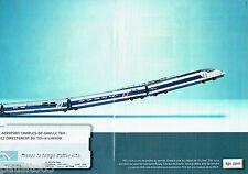 PUBLICITE ADVERTISING 016  2000  SNCF  le TGV  train  (2p)